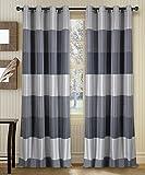#7: Deco Window 2 Piece Curtain Abhina metallic Grey 52