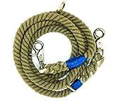 Premium Hundeleine | Doppelleine | Dog Rope Leash | Tau | Seil | Frieda's Choice | grün, grau, blau 1,8 m, 2-fach verstellbar, 100% Baumwolle, für kleine und mittelgroße Hunde, geflochten, bunt, Hunde Leine, doppel, geflochtene hunde leine, Seemannsgarn, Seemannstau, Kordel, Strick, Tauleine
