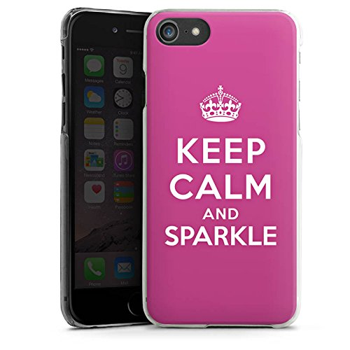 Apple iPhone X Silikon Hülle Case Schutzhülle Keep calm and sparkle Mädchen Sprüche Hard Case transparent