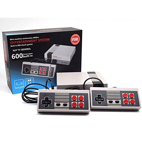 Lanlan: Video Spiele, Classic Mini Console, Classic Family Game Console System Profi für NES Game Player Built-in 600 Videospiele TV mit Controller Doppel