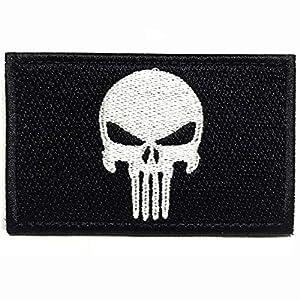 Colisal Klett Patch Punisher Airsoft Patch Klett für Rucksäcke Militär Patches Aufkleber Abzeichen Klettbänder