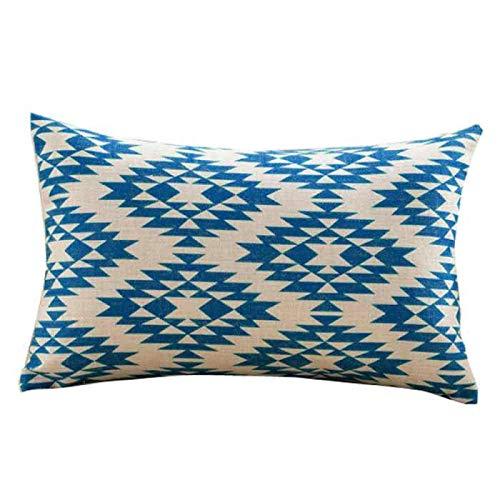 Sencillo Vida Fundas De Cojin Almohada Caso de Lino Impresión Geométrica Pillow...