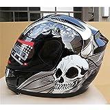MATEROP Cara Completa ARAI Racing Motocicleta Motocross Casco de Seguridad Certificación ECE Hombre Mujer Casco Moto Black XXL