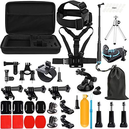 SHOOT Kit de Accesorios Deportes al Aire Libre Bundle para GoPro Hero 8 7 6 5 4 3+ 3 SJCAM SJ4000 SJ5000...