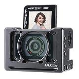 Cage d'extension en métal UURig C-RX0 II pour Sony RX0 II / RX0 avec Griffe Froide pour Fixer Le Microphone Selfie Vlog Accessoires vidéo Adaptateur d'objectif de 37MM Arri Hole Fixation Rapide
