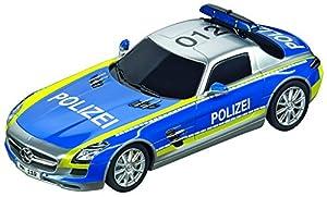 Carrera Toys-Digital 132 Coche Miniatura Mercedes-SLS AMG Polizei, Color Azul y Plateado (20030793)