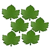CWeep Coasters Maple Leaf Placemats Leaf Coasters Placemats Set of 6 Leaf Shaped for Cafe Hotel Home -15 Inch Green