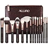 Allure ® Professional Makeup Brushes For Face And Eyes (Set Of 15) - Rose Gold - (RGK-15)