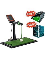 Tolles Golfgeschenk ....... Indoor-Golftrainer: Digital Swing Guider S1 + Putting-Maschine + 6x orig. RAPTOR Golfbälle