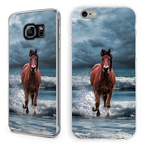 Hülle Pferde Samsung Hardcase Pferd Reiter Reiterhof Horse Trense Maultier, Handy:Samsung Galaxy S7, Hüllendesign:Design 2 | Hardcase Klar