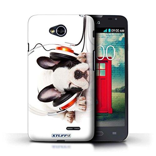 Kobalt® Imprimé Etui / Coque pour LG L70/D320 / Museau de giraffe conception / Série Animaux comiques Chien somnolent