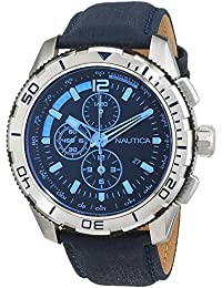 Nautica – Reloj de pulsera hombre cronógrafo cuarzo piel nai19518g