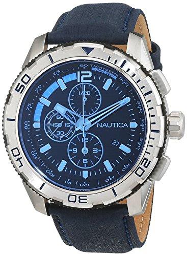 nautica-nai19518g-nst-101-montre-homme-quartz-analogique-cadran-bleu-bracelet-cuir-bleu