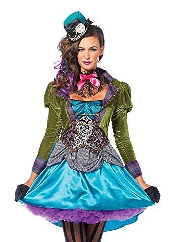 Leg Avenue 85505 - Deluxe Mad Hatter Kostüm, Größe Small (EUR 36), Damen Karneval Kostüm Fasching