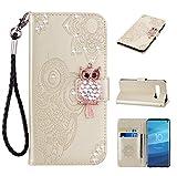 Galaxy S10 Hülle, Leder Tasche Handyhülle Flip Wallet Schutzhülle für Samsung Galaxy S10 mit Ständer und Kartenfächer/Magnetverschluss#T (4)
