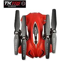 LeaningTech TK110HW 2.4G 4CH 6Axis RC Quadcopter Zumbido 0.3MP WIFI Cámara, 1000mAh Batería, Flight Plan Drawing Rojo