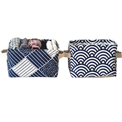 4 Für Picknick-zeit-korb (Inwagui 2er Set Pastoral Home Schmutz Aufbewahrungsbox Griff Griff Korb Schrank klein Kleidung Collection Korb-Typ C)