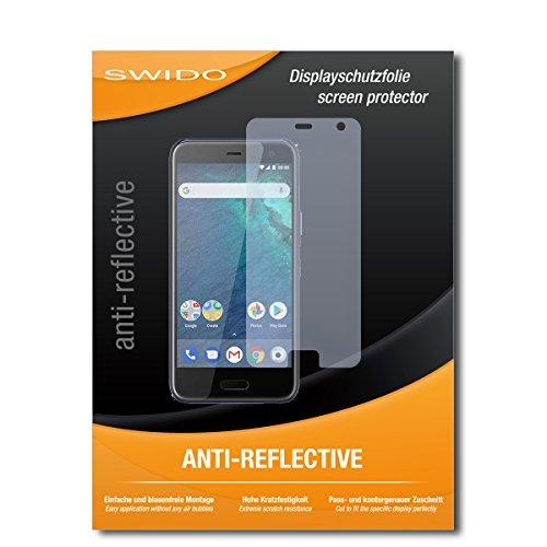 SWIDO Schutzfolie für HTC U11 Life [2 Stück] Anti-Reflex MATT Entspiegelnd, Hoher Härtegrad, Schutz vor Kratzer/Bildschirmschutz, Bildschirmschutzfolie, Panzerglas-Folie