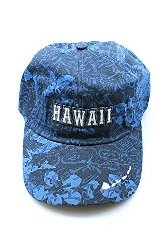 Mapa-de-Hawaii-bordado-floral-Hibiscus-ajustable-Gorra-sombrero-en-Azul-Camuflaje