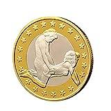 Wawer 1 Stück Sex Münzen 6 Euro Münzen Verschiedene Position Hard Coins Sammlung Paar Spielzeug Schmuck Geschenk (D)
