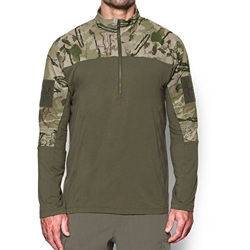 Under Armour Tac Combat Shirt 2.0 - ridge reaper camo barren / marine od green / desert sand, Größe #:XL (Armour Under Marine)