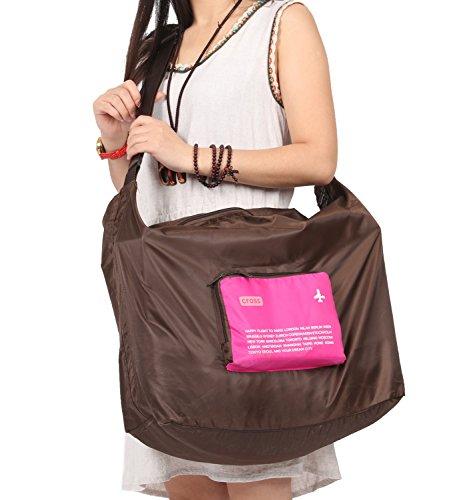 Nina wasserfest faltbar Gepäck Tasche mit Schulterriemen für Reisen Camping orange