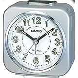 Casio TQ-143-8EF - Reloj despertador analógico, color plateado