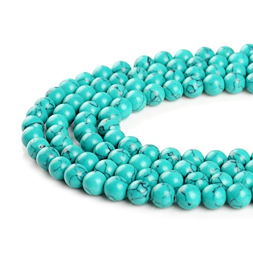 Synthesis Bleu Blanc Vert Rouge Pierre Turquoise Perles 4 mm 6 mm 8 mm 10 mm 12 mm 14 mm, Green, 14 mm