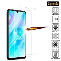 ANKENGS Huawei P30 Lite Screen Protector [2 Pack], Huawei P30 Lite Glass Screen Protector, [Full Coverage] [Anti-scratch] [Bubble Free] Tempered Glass for Huawei P30 Lite