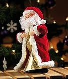 """infactory Weihnachtsartikel: Singender, tanzender Weihnachtsmann """"Swinging Santa"""", 28 cm (Tanzender Weihnachtsmann mit Musik) - 2"""