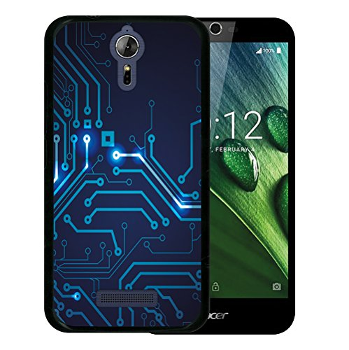 WoowCase Acer Liquid Zest Plus Hülle, Handyhülle Silikon für [ Acer Liquid Zest Plus ] Rundgang Handytasche Handy Cover Case Schutzhülle Flexible TPU - Schwarz