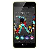 Wiko U Feel Smartphone (12,7 cm (5 Zoll) HD IPS-Display, Fingerabdruck-Sensor, 16 GB interner Speicher, Android 6 Marshmallow) limone-grau
