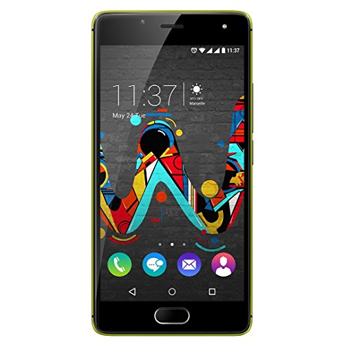ne (12,7 cm (5 Zoll) HD IPS-Display, Fingerabdruck-Sensor, 16 GB interner Speicher, Android 6 Marshmallow) limone-grau ()
