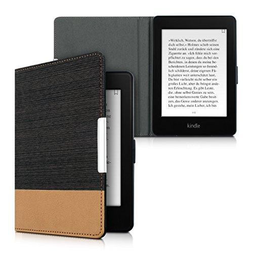 kwmobile Amazon Kindle Paperwhite Hülle - Canvas eReader Schutzhülle Cover Case für Amazon Kindle Paperwhite (für Modelle bis 2017)