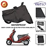 #9: Fabtec Premium Quality Waterproof Double Stiched Scooty Body Cover With Heavy Buckle Lock & Storage Bag For Honda Activa 4G