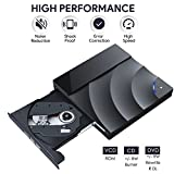 USB 3.0 External CD DVD Drive,Oudekay Ultra Slim Touch Control CD DVD Burner Portable DVD Player for PC Laptop Desktop MacBook Windows XP/Win 7/Win 8/Win 10/Vista/Linux/Mac OS and More (Black)