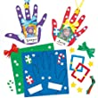 Kits d�corations Empreintes de mains en mousse pour No�l que les enfants pourront fabriquer et suspendre (Lot de 4)