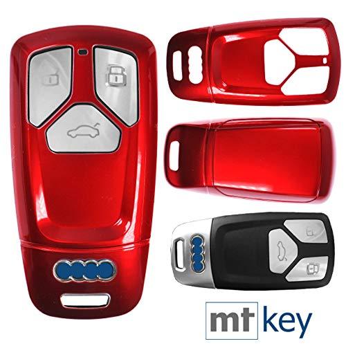 Keyless Auto Schlüssel Cover Hülle Smartkey Hartschale Rot für Audi A4 A5 A6 A7 TT Q2 Q5 Q7 A8 Q8
