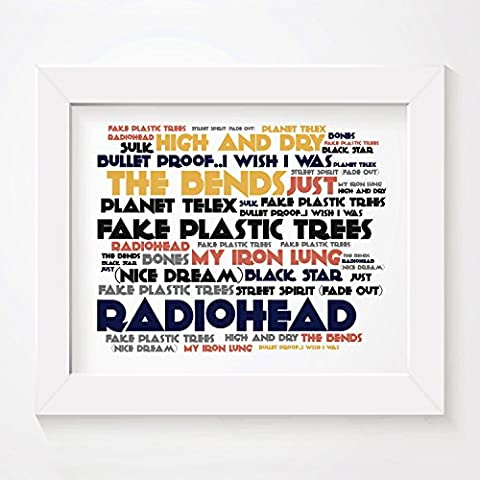 'Cadence` Poster Affiche d'art - RADIOHEAD - The Bends -