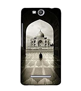 Fuson Designer Back Case Cover for Micromax Canvas Juice 3+ Q394 :: Micromax Canvas Juice 3 Plus Q394 (The Tajmahal theme)