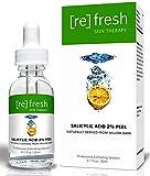 Peeling Viso per Acne con Acido Salicilico 2% - Derivato Naturale della Corteccia di Salice - Maschera Viso Delicato Giornaliero 30ml