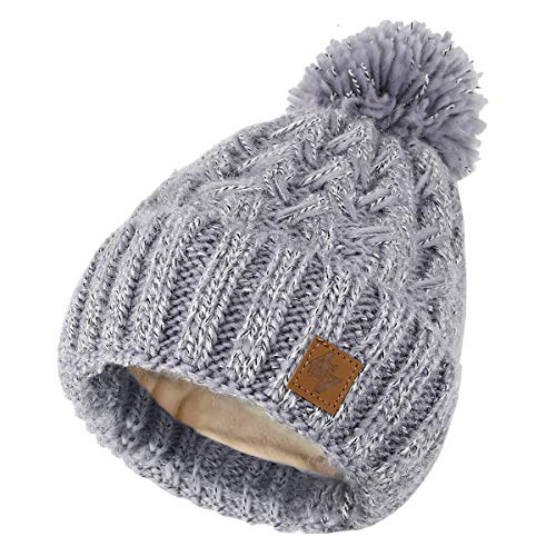 a115cc4f567 4sold Para Mujer para Hombre Beanie Warm Winter Sacacorchos Cable De Punto Bobble  Hat Llano Ski