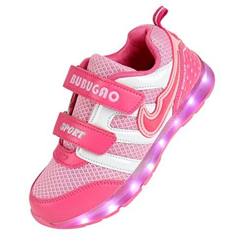 Angin-Tech 7-Light Kinder LED Sneaker Sportschuhe Blink Boots Birthday Gift Camping Wandern Trekking-Schuhe (EU31, Pink)