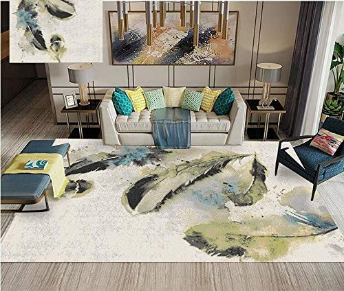 Teppich Nordic Sofa Teppich - Rutschfester Abnehmbarer Waschbarer Teppich - Idealer Teppich Für Das Büro Küche Spielzimmer Schlafzimmer (Farbe: Mehrere Farben) -