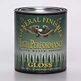 General Finishes QTHG High Performance Water Based Topcoat, 1 quart, Gloss by General Finishes