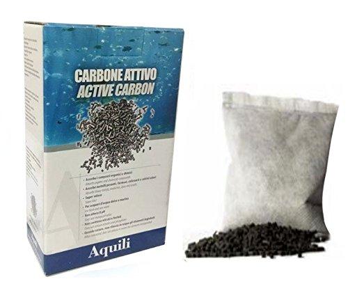 Aquili Active Carbon 3x120 gr - Carbone iperattivo di alta qualità, materiale filtrante per acquari di acqua dolce o marina
