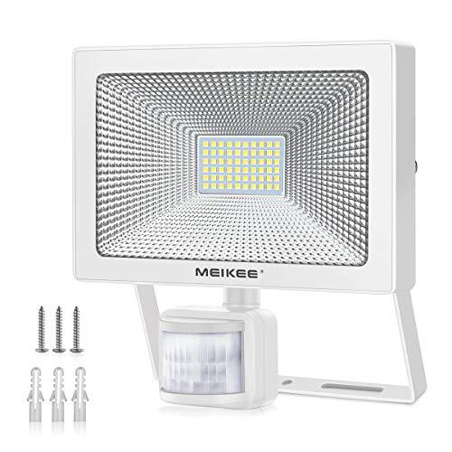 MEIKEE Projecteur 54W exterieur détecteur de mouvement 6500K, 5500LM Spot à LED Mural puissant...