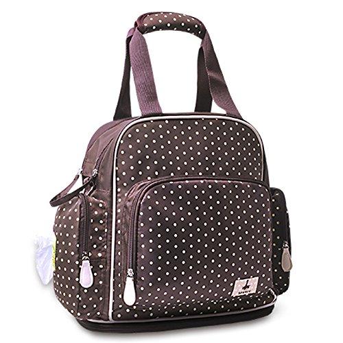 Mama-Tasche, Multifunktions-Großraum-Schulter Muttertasche, Mütter- und Kindertaschen, Rucksack, Mode Mama schwangere Frauen ( Farbe : Braun )