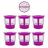 6Pack Keurig wiederverwendbar K Tasse Kaffee Filter, kungix Universal Premium Edelstahl Mesh Ersatz K Cup für Keurig
