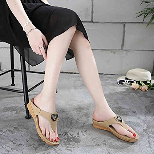 Été des sandales Filles mode été doux face orteil antidérapantes sandales décontractées pantoufles Couleur / taille facultative ( Couleur : Beige , taille : EU36/UK4/CN36 ) Bleu